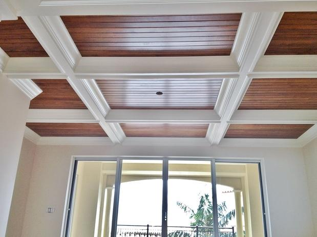 Traditional Living Room In Naples Coffered Ceiling