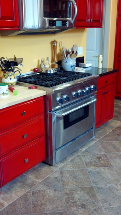 Eclectic Kitchen In Costa Mesa High End Appliances Black Granite Countertop By Cottage
