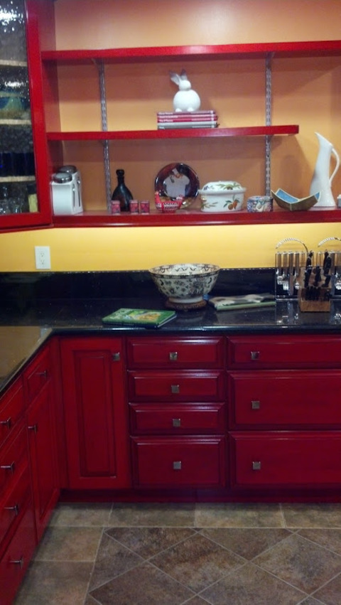 Eclectic Kitchen In Costa Mesa Glass Panel Cabinet Doors Glazed Wood Cabinetry By Cottage