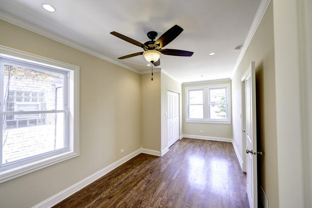 Transitional Sunroom In Schiller Park Ceiling Fan Pale Yellow