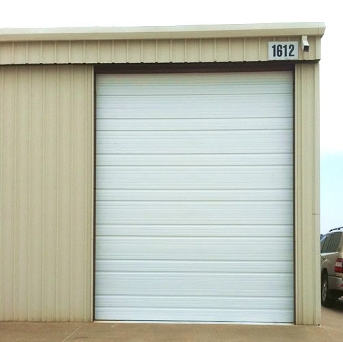 Contemporary garage in noble oversized panel garage door for Oversized garage door