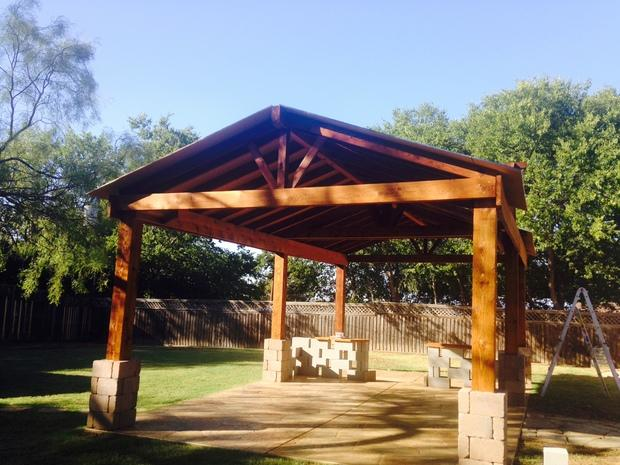Traditional Patio In Denton Wood Privacy Fence Gable Brace By Native Spr