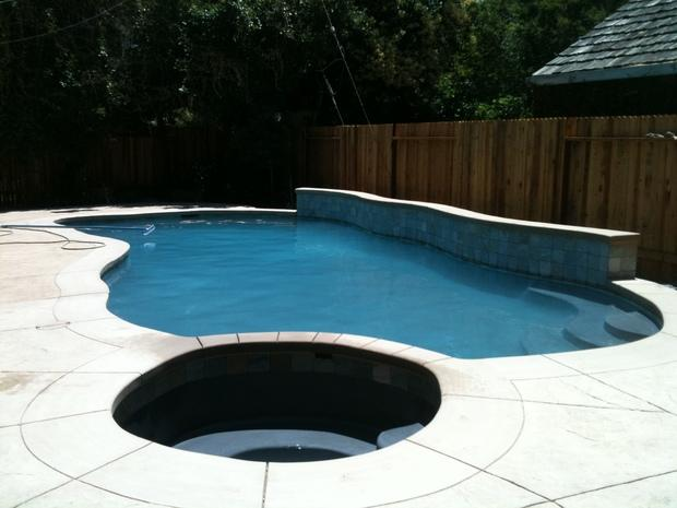 Contemporary Pool In Elk Grove Hot Tub Cement Paved