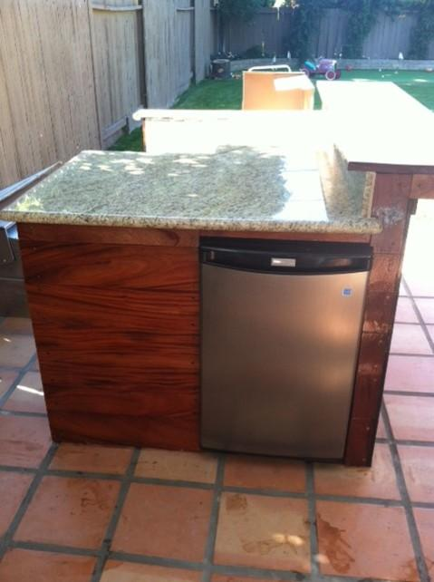 Modern Outdoor Kitchen In Tustin Clay Tile Patio African