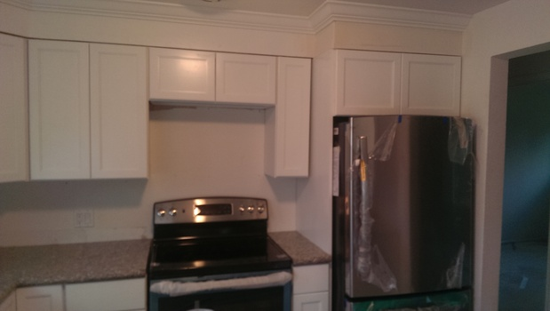 Traditional Kitchen In Spokane Valley White Crown Molding Recessed Panel By Handyman