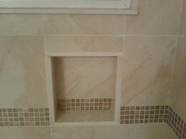 Traditional Bathroom in Brooklyn - shower niche, ceramic ...