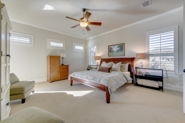 Transitional Bedroom In MCKINNEY King Size Bed Slipper
