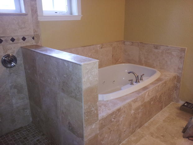 Traditional Bathroom In Fort Myers Drop In Tub Yellow Painted Walls By Paramount Builders