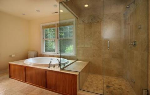 Traditional Bathroom In Trumbull Frameless Glass Shower Walls Beige Wall Paint By Storms