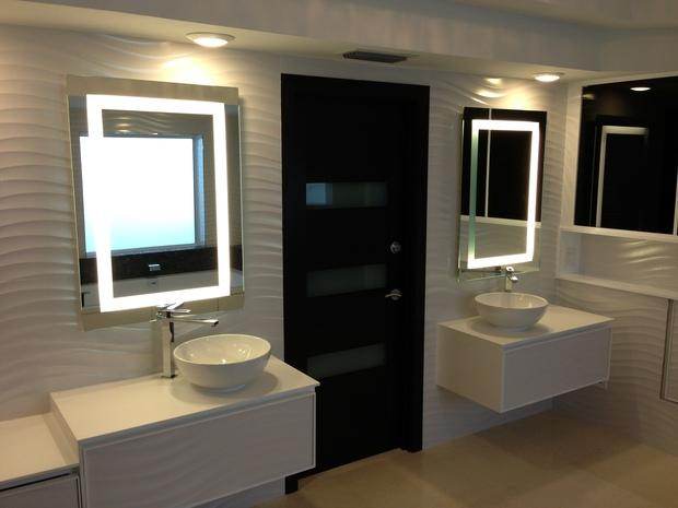 Modern Bathroom With Stye Master Two Separate Vanities