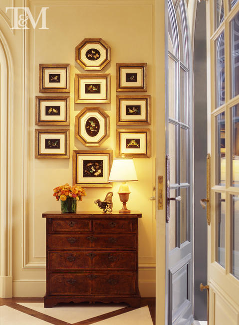 Traditional Entry with entry hall dresser