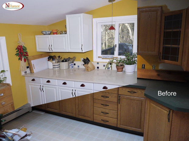 Kitchen In Waterford Solid Surface Painted Recess Panel Cabinet By Brijsul Llc Dba N Hance