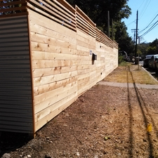 Modern Landscape with corrugated metal fence