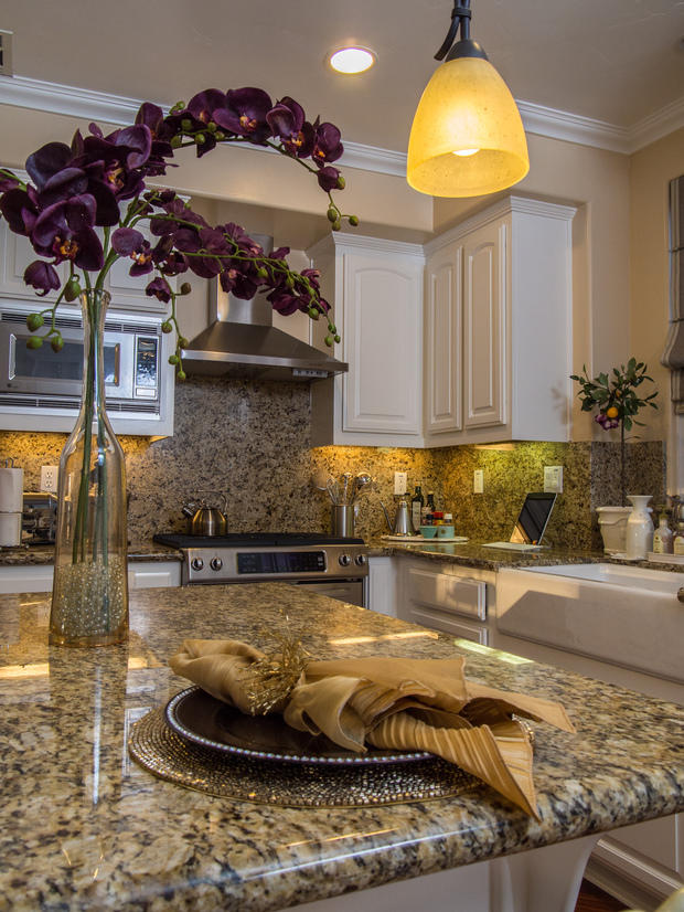 Traditional kitchen in san jose granite counter top white cabinets by dkl designs Kitchen design center san jose
