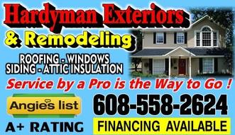 hardyman exteriors llc monroe wi 53566 homeadvisor