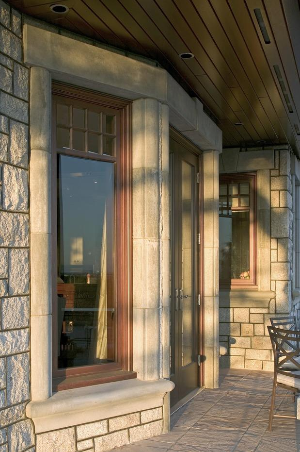 Traditional Home Exterior Photo Multi Light Window Recessed Lighting By Designmine Private