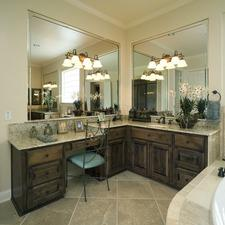 Traditional Master Bathroom with oil rubbed bronze hardware