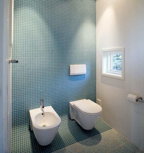 Modern Master Bathroom with wall mount toilet
