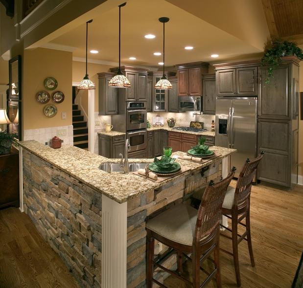 Corner Kitchen With Island: Corner Kitchen Sink, White Wood