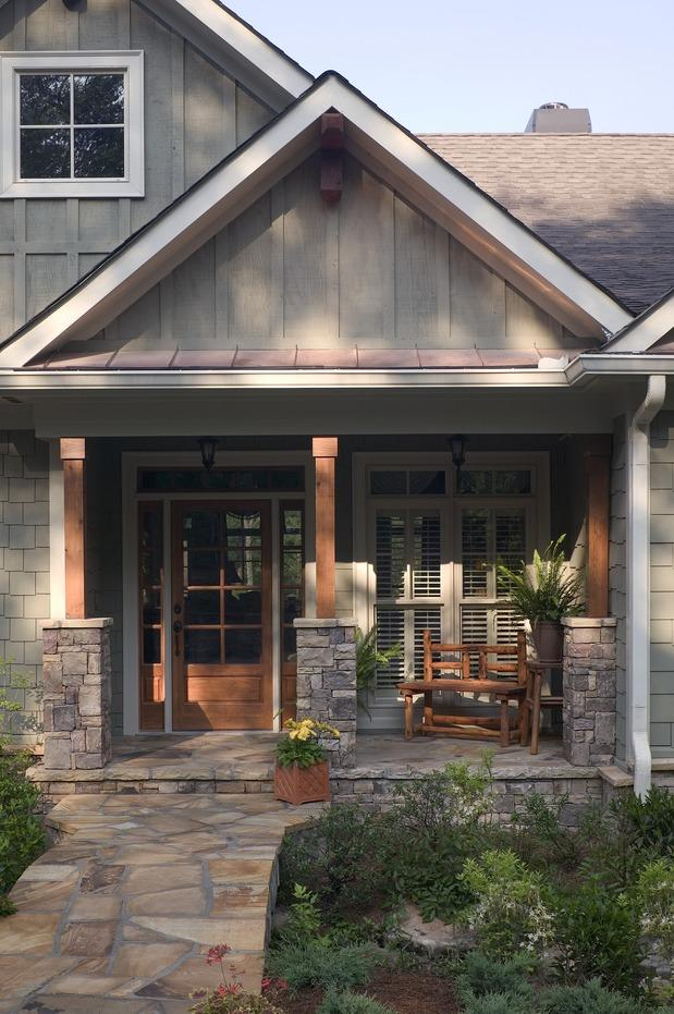 Traditional Porch with multiple roof lines