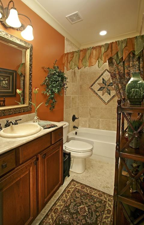 Eclectic Bathroom with oil rubbed bronze faucet
