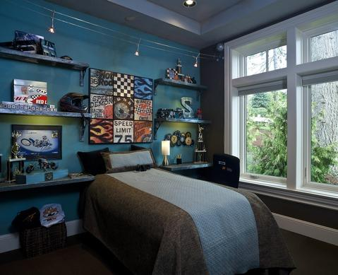 Contemporary Kids Room with low voltage lights