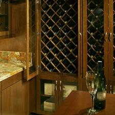 Modern Bar with built in wine storage