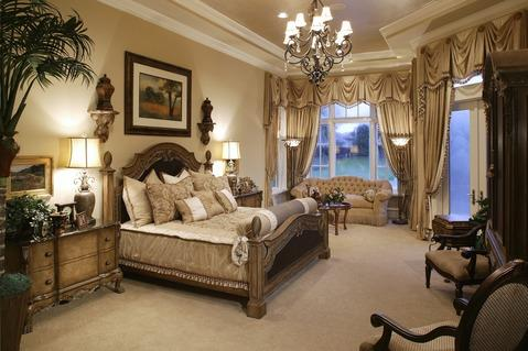 Traditional Bedroom with white painted millwork