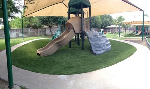 Modern Landscape with plastic play structure