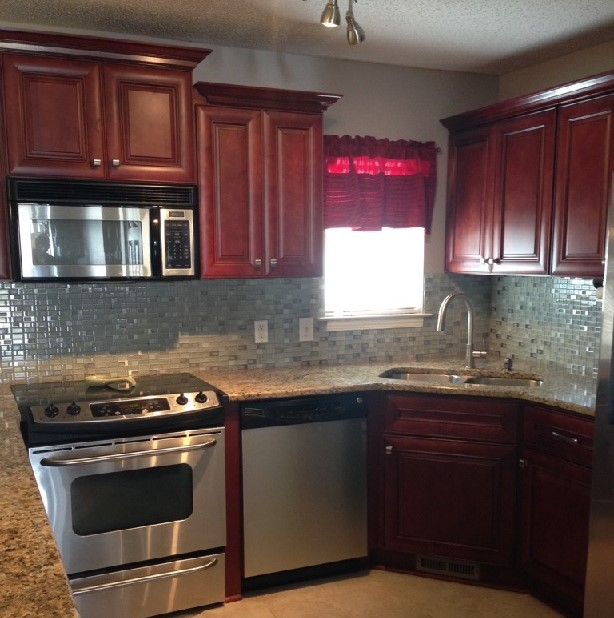 Countertop Microwave Above Stove : ... countertop, microwave above the stove by Custom Kitchen Design