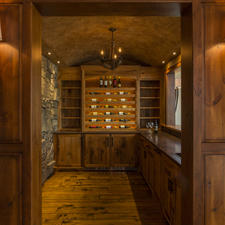 Rustic Wine Cellar with wine cellar and tasting room
