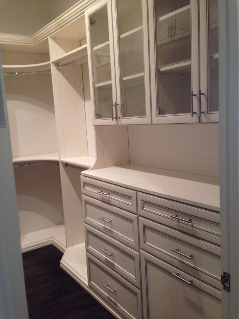 Transitional Closet In Edmonton Beautiful Custom Cabinetry Beautiful Walk In Closet With