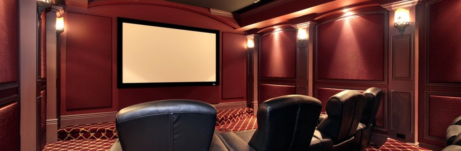 Traditional Home Theater with home theater