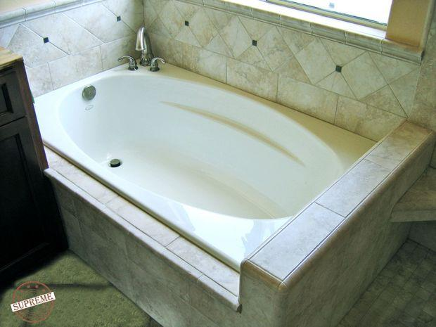 how to build a tub surround for drop in tub