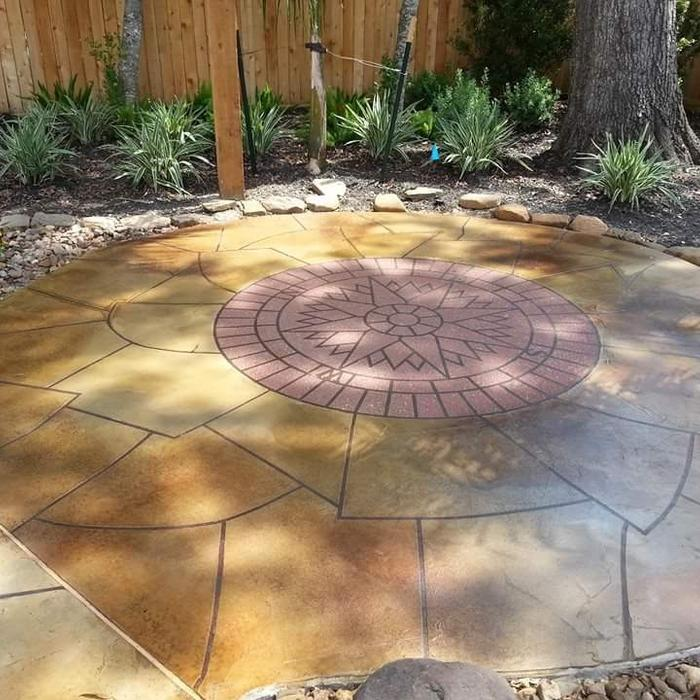 2018 stamped concrete patio cost calculator how much to install - Calculating square footage of a house pict ...