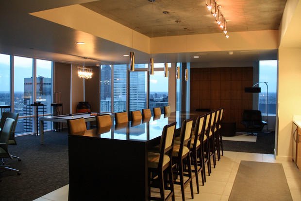 Contemporary Dining Room In Moorpark Track Lighting With
