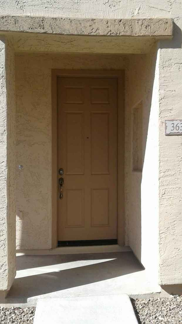 Traditional Porch In Tempe Tan Front Door Tan Stucco