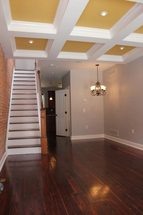 Traditional Entry with mahogany stained hardwood floor