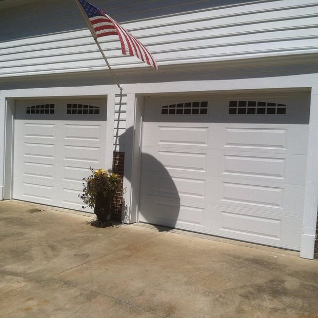 Cape cod garage in brunswick two car garage white for Cape cod garage