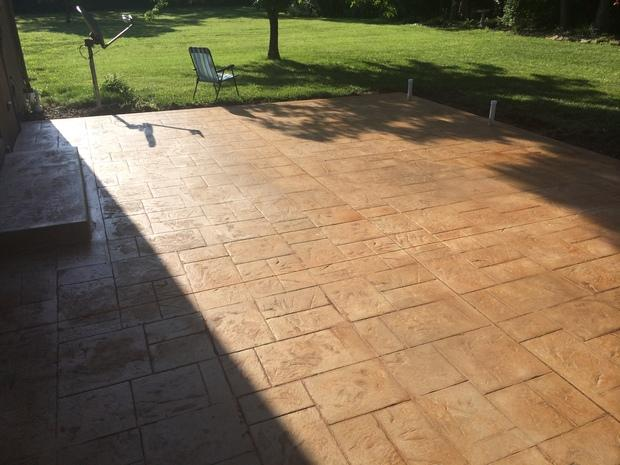 Traditional Patio In Wakarusa Brick Paver Concrete