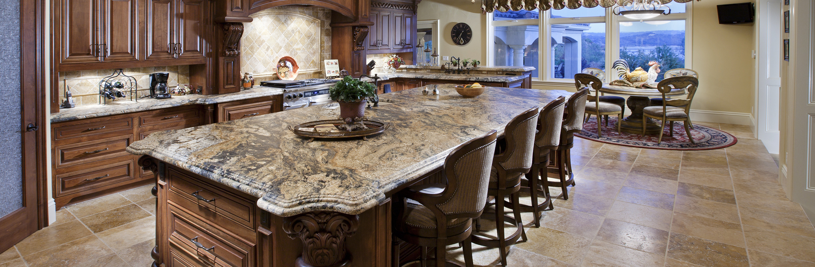 Traditional Kitchen with raised panel cabinetry