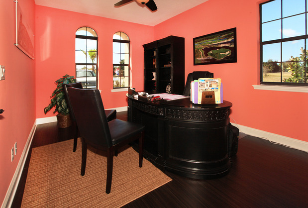 Tropical Home Office In Palm Coast Arched Windows Oval