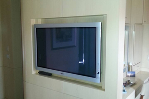 flat screen tv on wall with surround sound. local flat screen tv installers tv on wall with surround sound