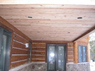 Getz home log accent and slab siding pictures and photos for Log slab siding