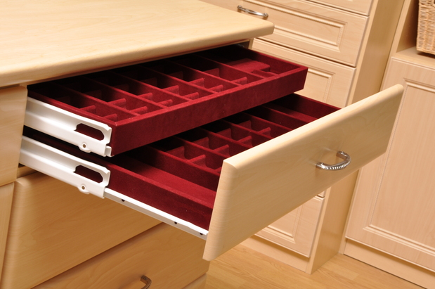 Closet In Louisville   Jewelry Drawer 2 Tier, Recessed Panel ...