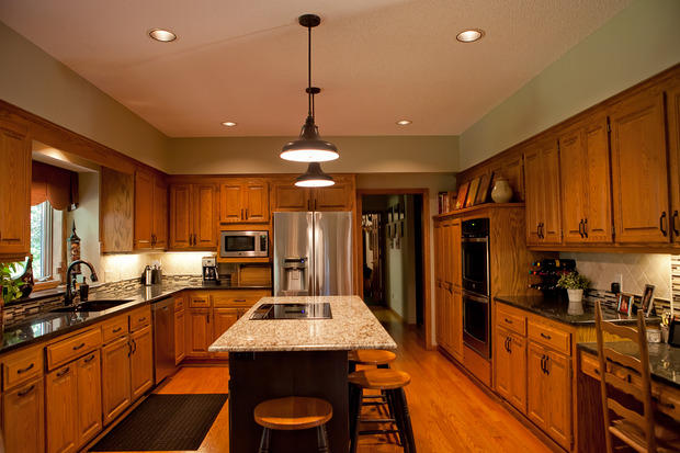Arts Crafts Kitchen In Burnsville Stainless Steel Appliances Black Granite Countertop By