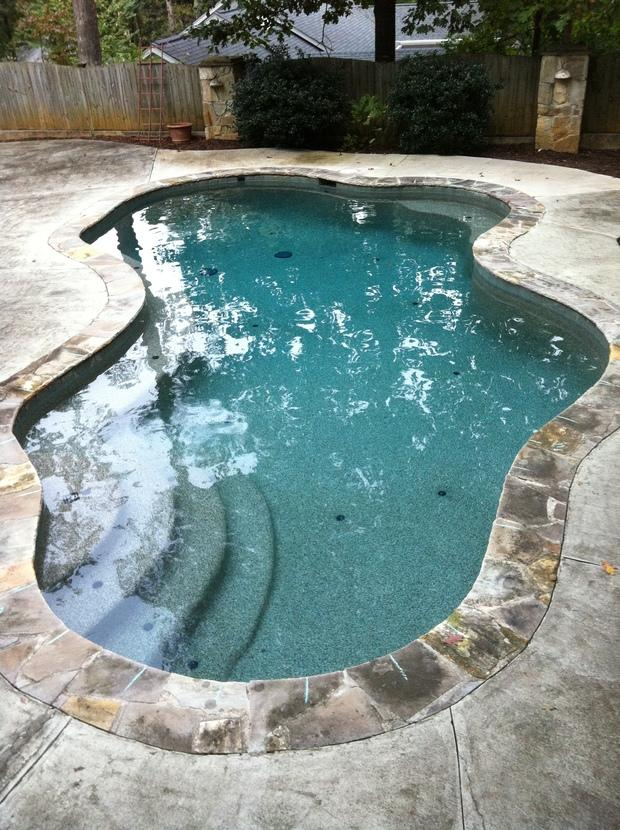Casual Living Pools : Casual / Comfortable Pool in Loganville - poured concrete ...