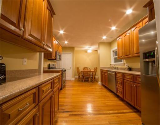Narrow Countertop Microwave : Transitional Kitchen in Boston - narrow kitchen, microwave over stove ...