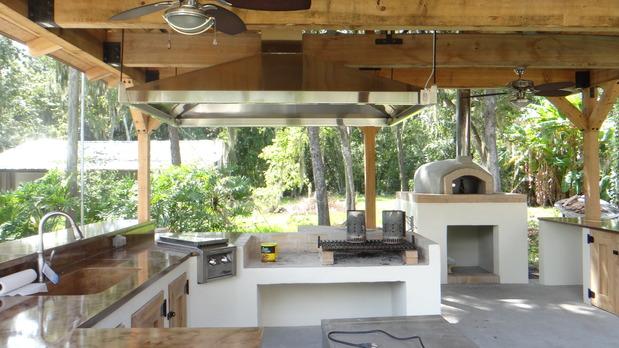 Mediterranean Outdoor Kitchen In Lakeland Concrete