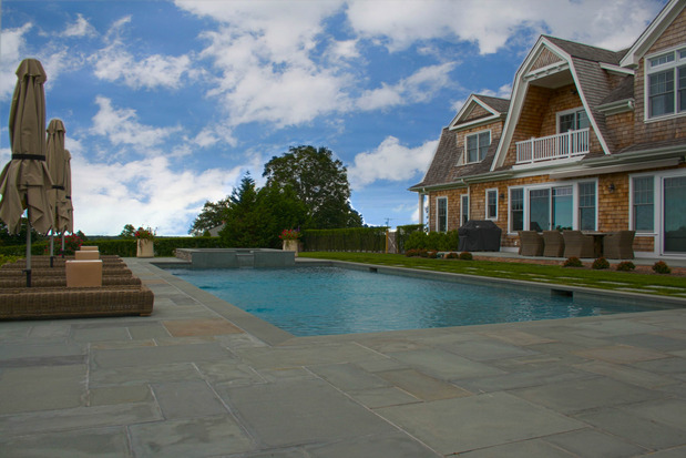 Modern Pool In Southampton In Ground Pool Wood Shingle Siding By Experience Swimming Pools